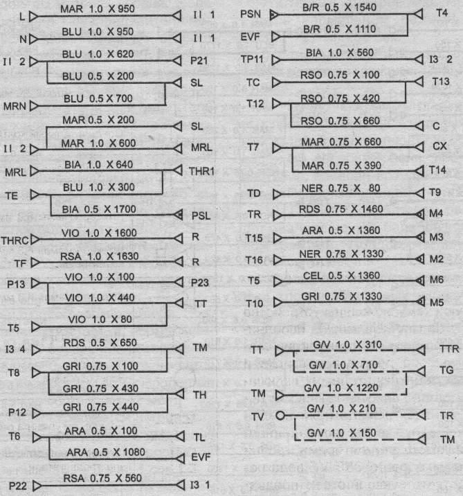 Схема соединения элементов электрической цепи СМ Indesit WN 421WS